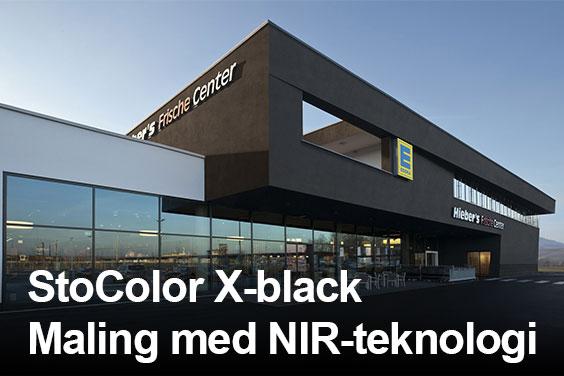 StoColor X-black - Varmereflekterende fasademaling basert på NIR-teknologi