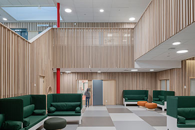 Trespiler skapar en kreativ skolmiljö i Stigtomta